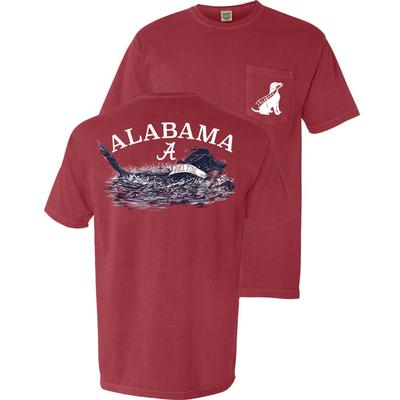 Alabama Swimming Dog Short Sleeve Comfort Colors Tee