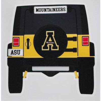 Appalachian State Jeep Decal
