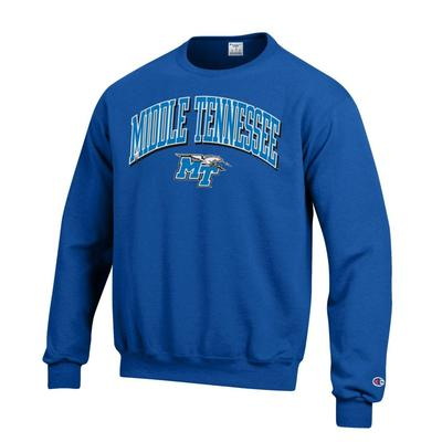 MTSU Champion Arch Middle Tennessee Logo Crew