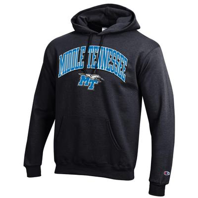 MTSU Champion Arch Middle Tennessee Logo Hoodie BLACK
