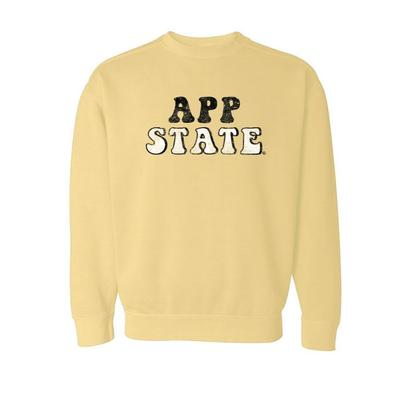 Appalachian State Summit Retro Font Comfort Colors Crew