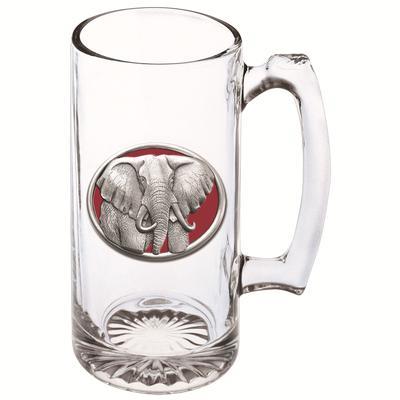 Heritage Pewter Red Elephant Emblem Super Stein