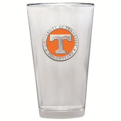 Tennessee Heritage Pewter Orange Emblem Pint Glass