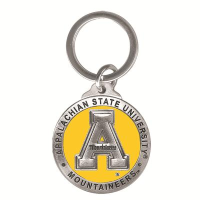 Appalachian State Heritage Pewter Key Chain