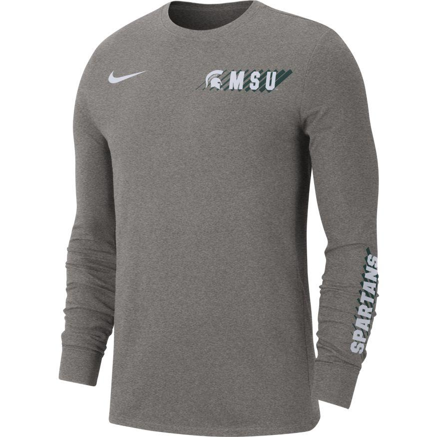 Michigan State Spartans Nike Dri- Fit Long Sleeve T- Shirt