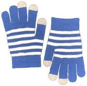 Blue & White Gameday Striped Gloves