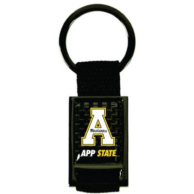 Appalachian State Carbon Fiber Rectangle Key Chain