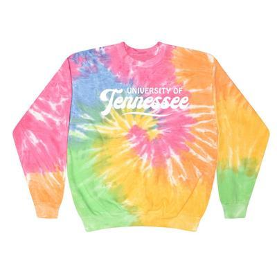 Tennessee Summit Spiral Tie Dye BF Retro Script Sweatshirt