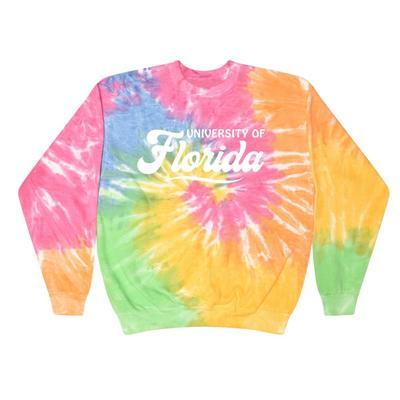 Florida Summit Spiral Tie Dye BF Retro Script Sweatshirt