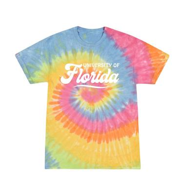 Florida Summit Spiral Tie Dye Retro Script Short Sleeve Tee