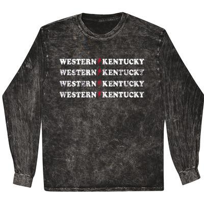Western Kentucky Summit Rose Mineral Wash BF WKY Rocker Long Sleeve Tee