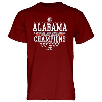 Alabama Basketball 2021 SEC Regular Season Champions Short Sleeve Tee