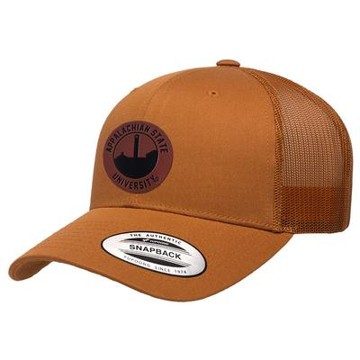 Appalachian State Uscape Faux Leather Seal Trucker Adjustable Hat