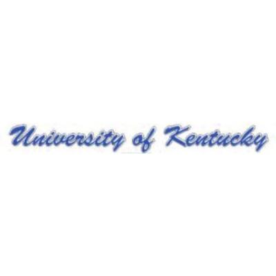 Kentucky Script University of Kentucky Decal 19'