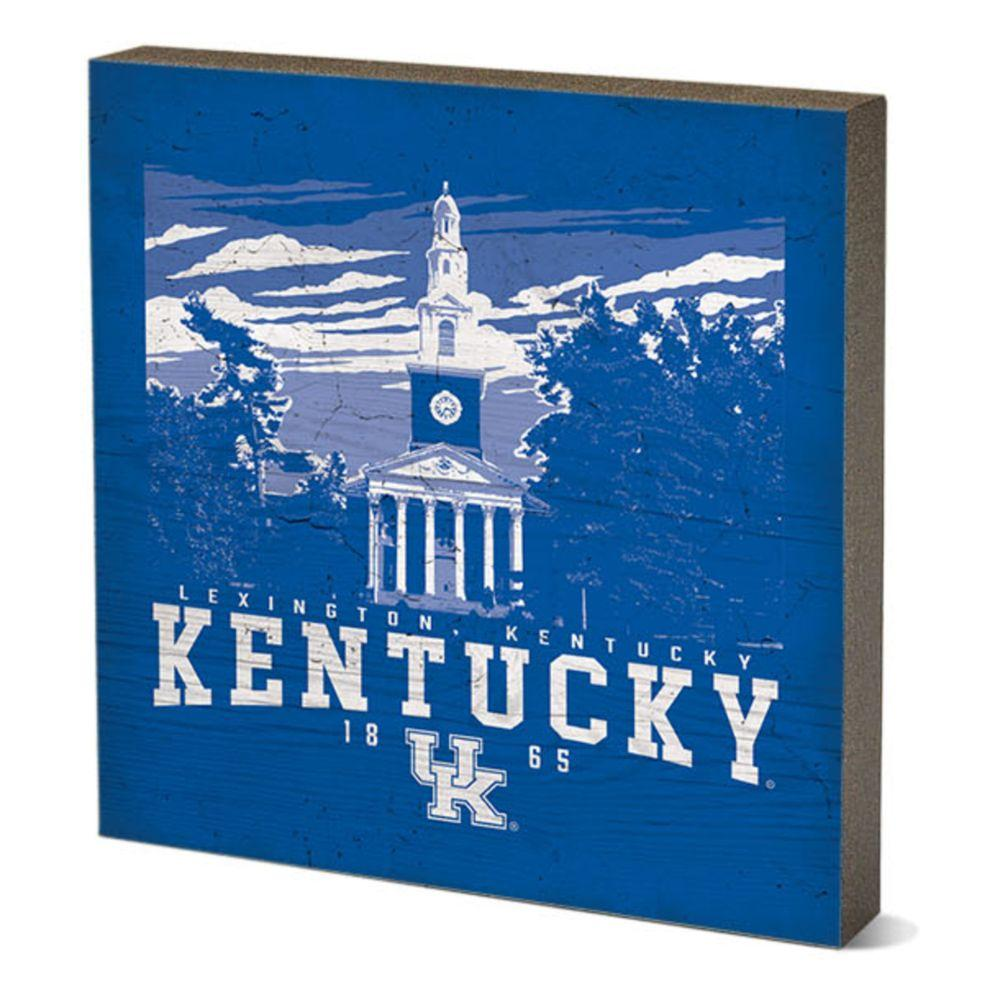 Kentucky Legacy Campus Poster Square Table Top Block