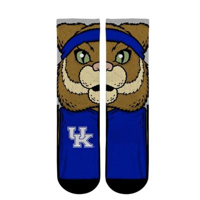 Kentucky Rockem Split Mascot Face Low Cut Socks