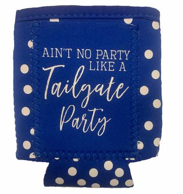 Blue & White Tailgate Party Can Cooler