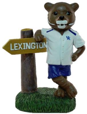Kentucky Mascot W/ Sign Figure