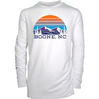 Boone YOUTH Long Sleeve Mountain Circle Sun Shirt