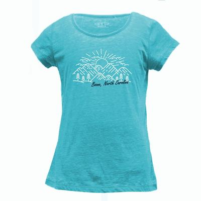 Boone YOUTH Scoop Burnout Mountain Sketch Tee