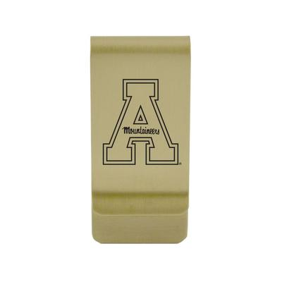 Appalachian State Brushed Gold Money Clip