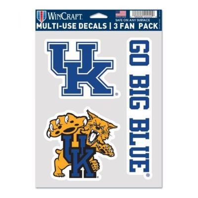 Kentucky Logos 3-Pack Decal