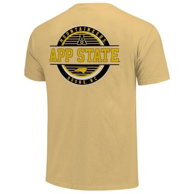 Appalachian State Striped Stamp Short Sleeve Comfort Colors Tee