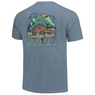 Boone Camping Jeep On the Edge Short Sleeve Comfort Colors Tee