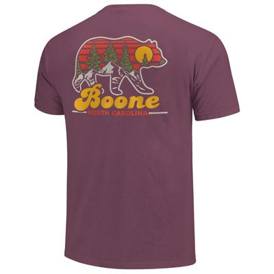 Boone Bear Silhouette Short Sleeve Comfort Colors Tee