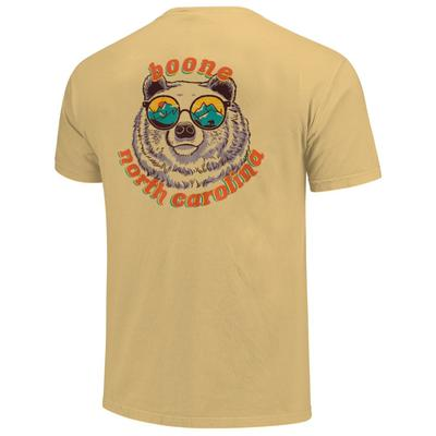 Boone Retro Bear with Glasses Short Sleeve Comfort Colors Tee