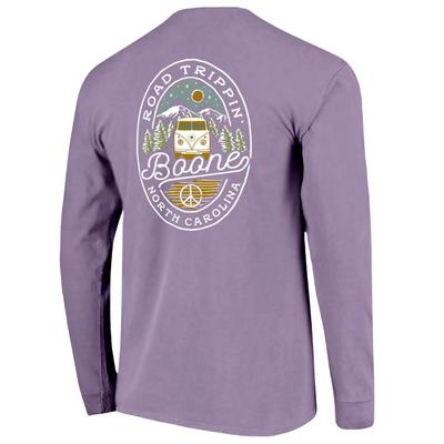 Boone Road Trip Oval Long Sleeve Comfort Colors Tee