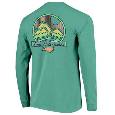Boone Mountain Scene Long Sleeve Comfort Colors Tee