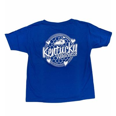 Kentucky YOUTH Patterned Hearts Tee