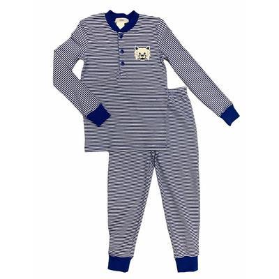 Ishtex Toddler Royal and White Long Sleeve Pajama Set