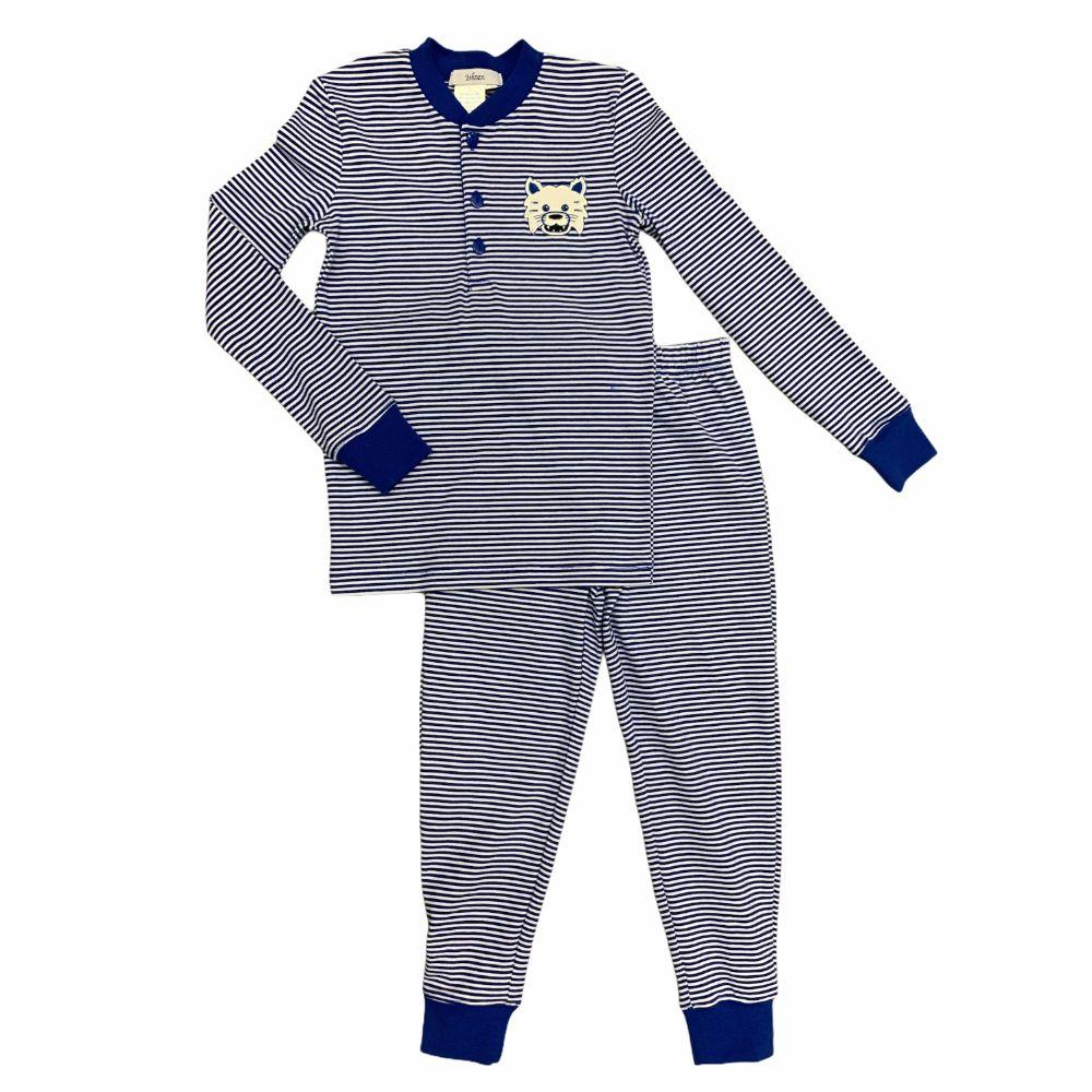 Ishtex Kids Royal And White Long Sleeve Pajama Set