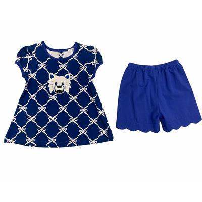 Ishtex Toddler Royal and Grey Short Sleeve Short Set
