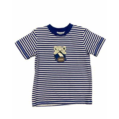 Ishtex Toddler Royal and White Short Sleeve Tee