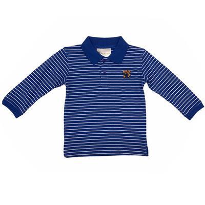 Kentucky Toddler Long Sleeve Stripe Golf Shirt