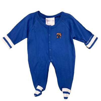 Kentucky Infant Striped Foot Creeper Onesie