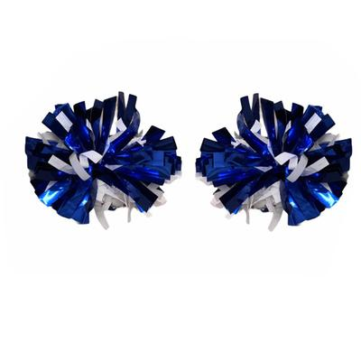 Royal and White Itsy Bitsey 2-Pack Poms