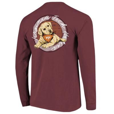 Virginia Tech Comfort Colors Good Dog L/S T-Shirt