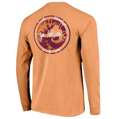 Virginia Tech Comfort Colors State Script L/S T-Shirt