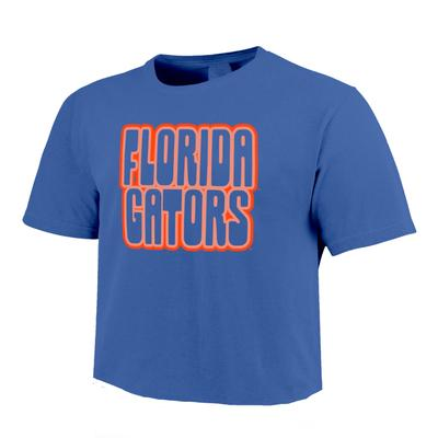 Florida Image One Retro Outline Comfort Colors Cropped Tee