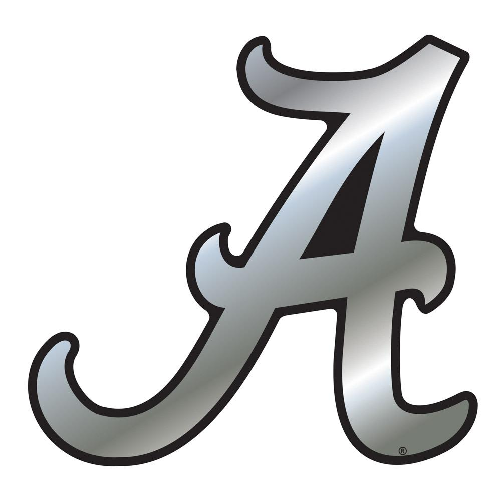 Alabama Car Magnet Chrome Script A 3