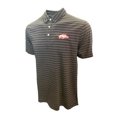 Arkansas Nike Golf Men's Player Stripe Polo
