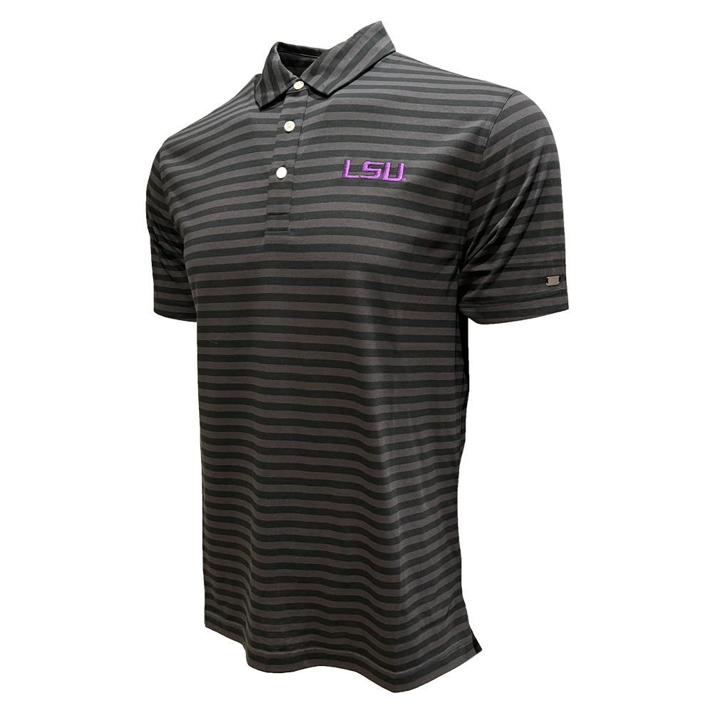 Lsu Nike Golf Men's Player Stripe Polo