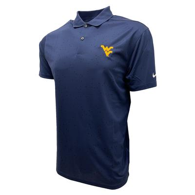 West Virginia Nike Golf Men's Victory Micro Print Polo