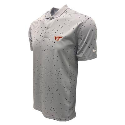 Virginia Tech Nike Golf Men's Victory Micro Print Polo