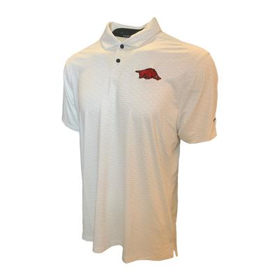 Arkansas Nike Golf Men's Vapor Micro Stripe Polo