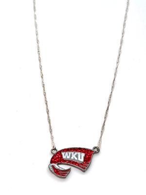 Western Kentucky Crystal Logo Necklace